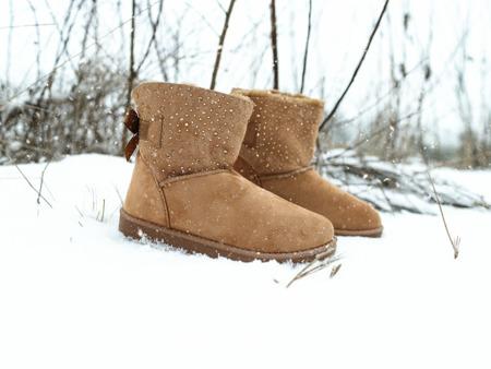 Brązowe ocieplane śniegowce Kati - Obuwie