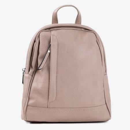 Brązowy mały plecak damski - Plecaki