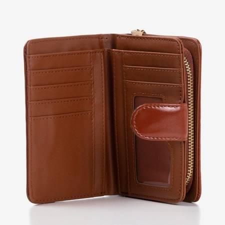 Brązowy portfel wykonany ze skóry ekologicznej - Portfel