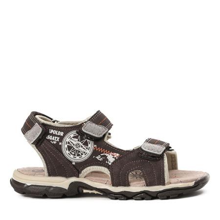 Chłopięce sandały w kolorze brązowym Nathan - Obuwie