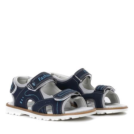 Chłopięce sandały w kolorze granatowym Carol - Obuwie