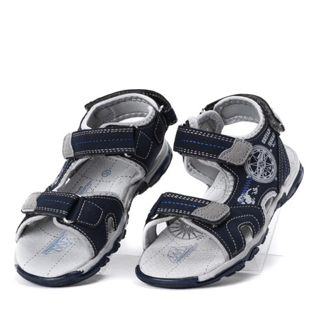 Chłopięce sandały w kolorze granatowym Nathan - Obuwie
