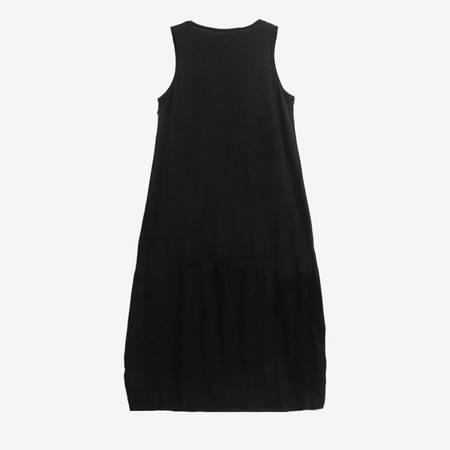Czarna sukienka z nadrukiem - Odzież