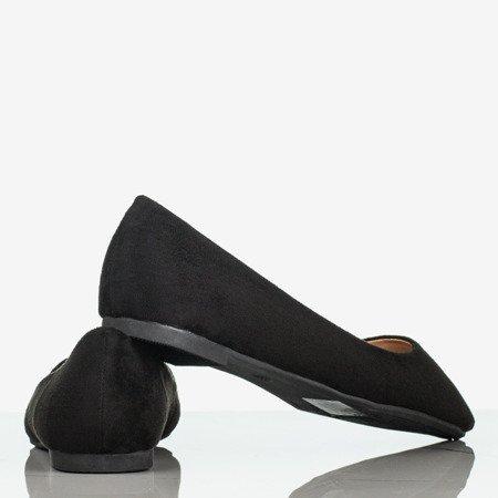 Czarne baleriny damskie zamszowe Get Lucky - Obuwie