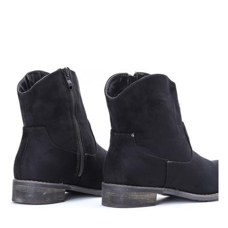 Czarne botki a'la kowbojki Luccillo - Obuwie