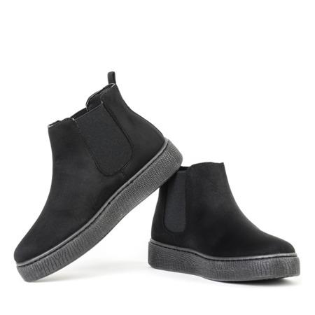 Czarne botki na platformie Desida - Obuwie