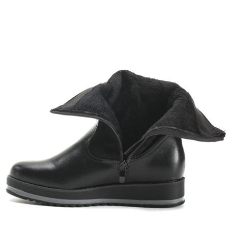 Czarne botki na platformie Redeventa - Obuwie