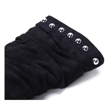 Czarne botki na trójkątnym słupku Solo Play - Obuwie