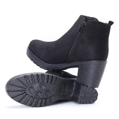 Czarne botki na wysokim słupku Nightcall - Obuwie