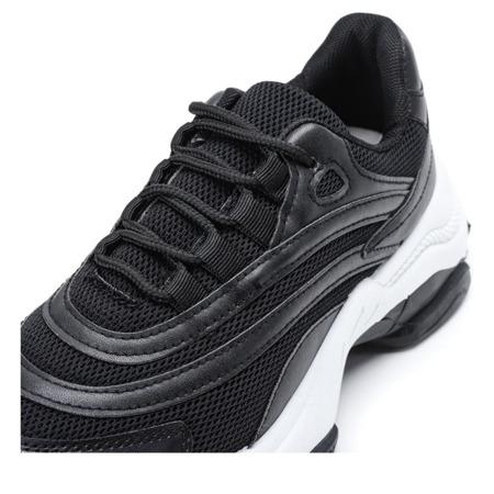 Czarne buty sportowe na grubej podeszwie Alabama - Obuwie