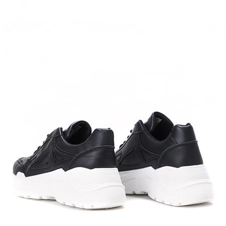 Czarne buty sportowe na grubej podeszwie Holly- Obuwie