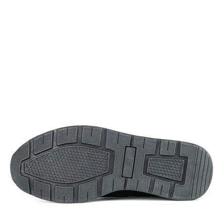 Czarne buty sportowe na koturnie Turrno - Obuwie
