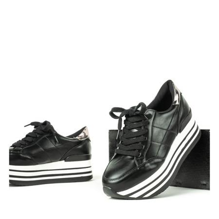 Czarne buty sportowe na platformie Keziah - Obuwie