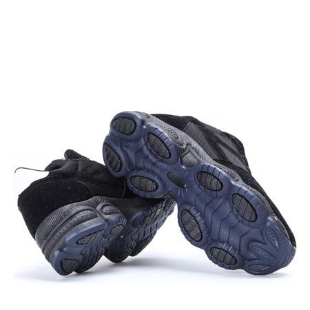 Czarne buty sportowe na wyższej podeszwie Faith - Obuwie