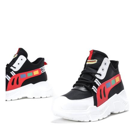 Czarne buty sportowe na wyższej podeszwie Milkmade - Obuwie