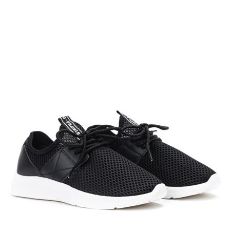 Czarne buty sportowe na wyższej podeszwie Riri - Obuwie