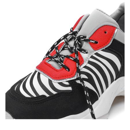 Czarne buty sportowe z motywem zebry Louisa - Obuwie