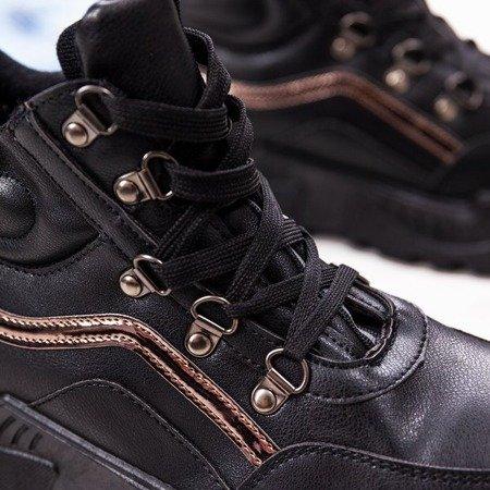 Czarne buty sportowe z wysoką cholewką Pesthane - Obuwie