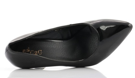 Czarne czółenka lakierowane - Obuwie