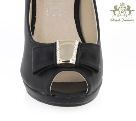 Czarne czółenka szpilka - Obuwie