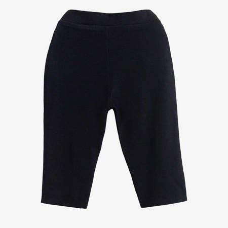 Czarne damskie spodnie typu rybaczki - Odzież