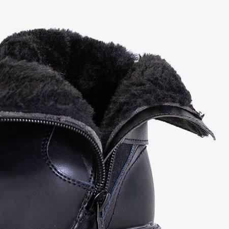 Czarne dziecięce botki ocieplane Oviu - Obuwie