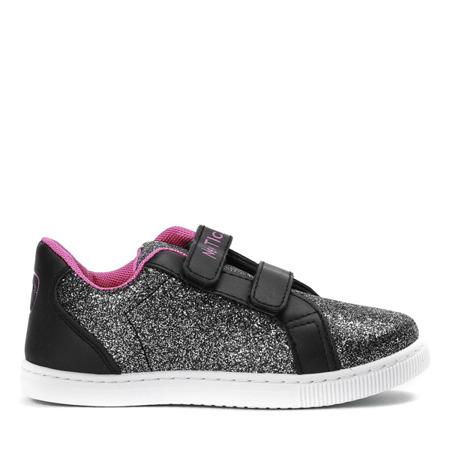 Czarne dziewczęce buty sportowe Lumila - Obuwie