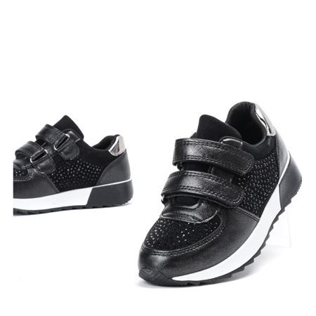 Czarne dziewczęce buty sportowe Elsane - Obuwie
