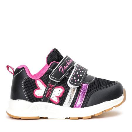 Czarne dziewczęce buty sportowe Fonni - Obuwie