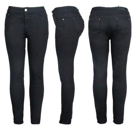 Czarne jeansowe rurki - Obuwie