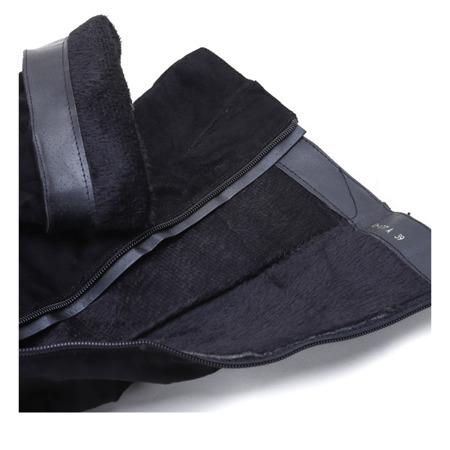 Czarne kozaki Luca - Obuwie