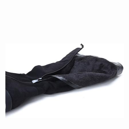 Czarne kozaki na platformie An - Obuwie