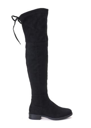 Czarne kozaki za kolano Marcia Obuwie