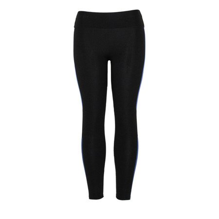 Czarne legginsy z granatowym printem - Legginsy