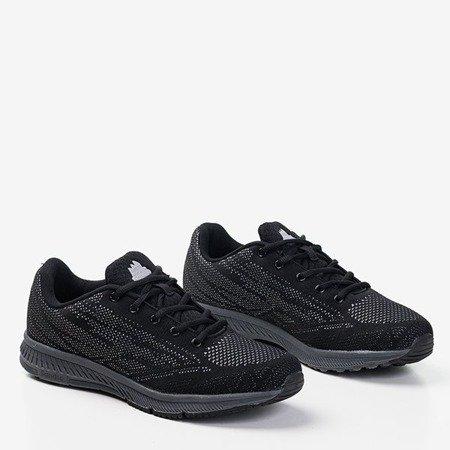 Czarne męskie buty sportowe z szarym wykończeniem Erol - Obuwie