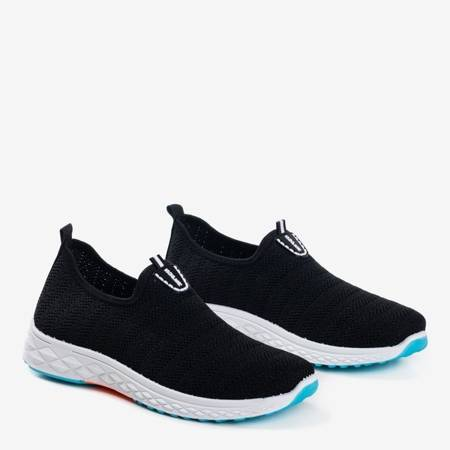Czarne męskie sportowe buty slip - on Telfer- Obuwie