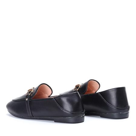 Czarne mokasyny ze skóry ekologicznej Ariellea - Obuwie