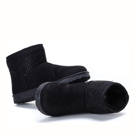 Czarne, ocieplane śniegowce Emo - Obuwie