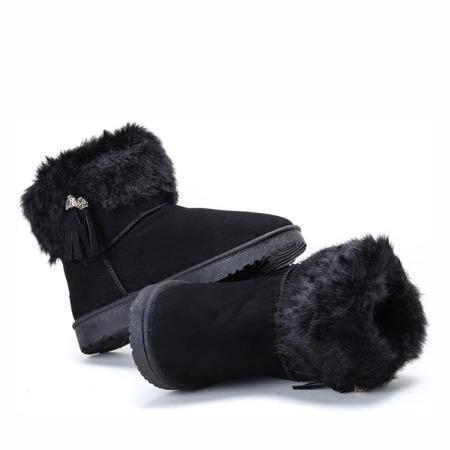Czarne, ocieplane śniegowce Riverside - Obuwie
