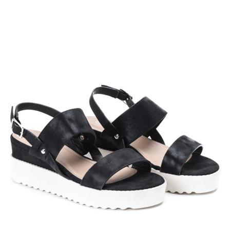 Czarne sandały na platformie Jose - Obuwie