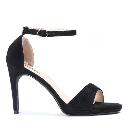 Czarne sandały na wysokiej szpilce Florent - Obuwie