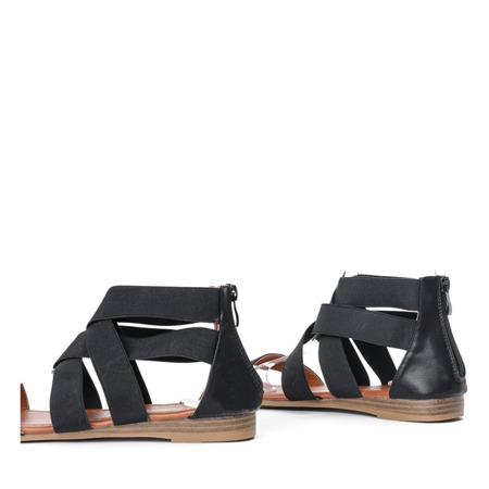 Czarne sandały zapinane na zamek Dia - Obuwie