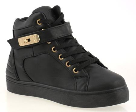 Czarne sneakersy  - Obuwie