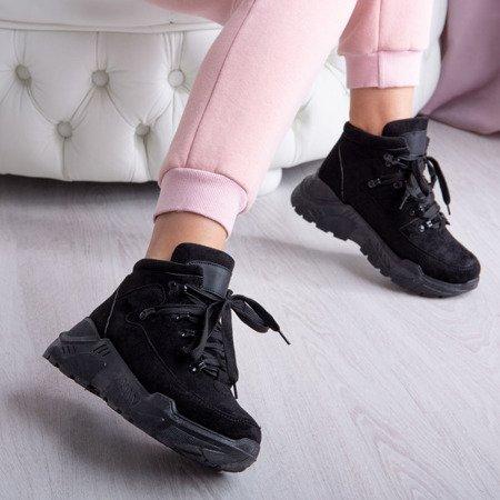 Czarne sneakersy na platformie Isbel - Obuwie