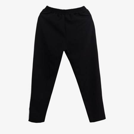 Czarne spodnie dresowe z kokardą - Odzież