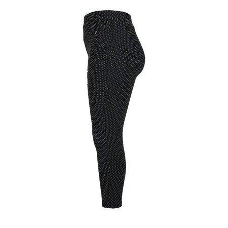 Czarne spodnie w grochy - Spodnie