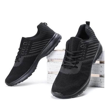 Czarne sportowe buty męskie Logon - Obuwie