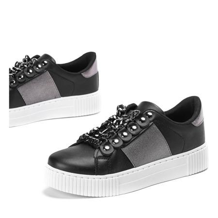 Czarne sportowe buty z łańcuszkiem Cunea - Obuwie