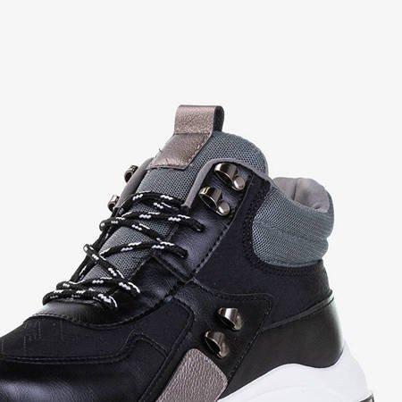 Czarne sportowe buty z wysoką cholewką Kirston - Obuwie