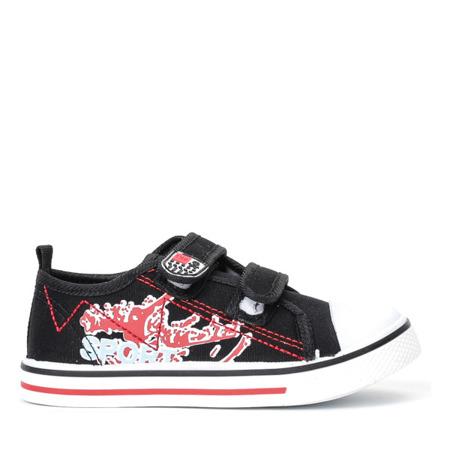 Czarne sportowe chłopięce buty Norn - Obuwie